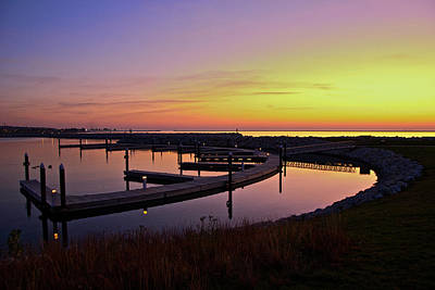 Art Print featuring the photograph Docks At Sunrise by Jonah  Anderson