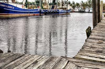 Mobile Al Photograph - Docks Of Bayou La Batre by JC Findley