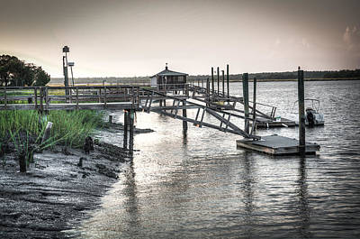 Photograph - Docks Of The Bull River by Scott Hansen
