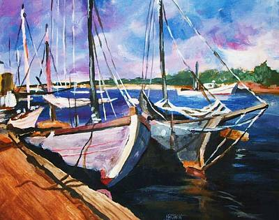 Painting - Dockside by Al Brown