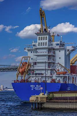 Loading Ship Digital Art - Dockside by Capt Gerry Hare