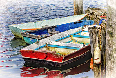 Photograph - Dockside In Maine by Carolyn Derstine
