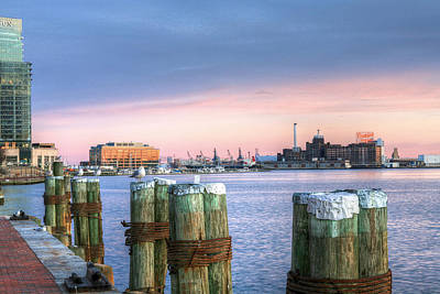 Baltimore Inner Harbor Photograph - Dockside by JC Findley