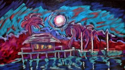 Dockside Moonlight Original by Joseph Hawkins
