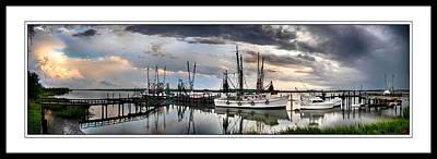Dockside   Port Royal S C Art Print