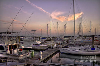 Dockside Sunset In Beaufort South Carolina Art Print by Reid Callaway