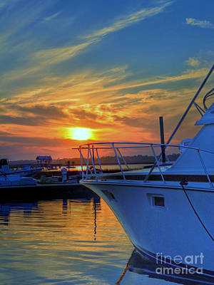 Photograph - Dockside Sunset by Kathy Baccari