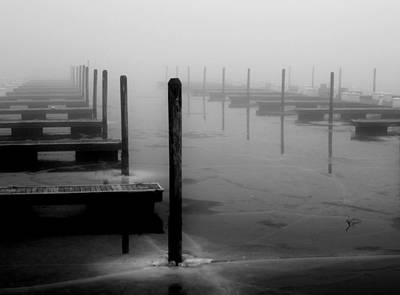 Lakefront Wharf Photograph - Dockside by Victoria Fischer