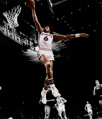 Dr. J Digital Art - Doctor J by Brian Reaves