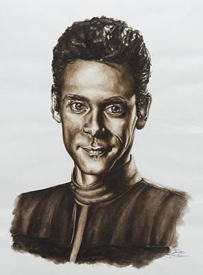 doctor Julian Bashir Star Trek DS9 Art Print