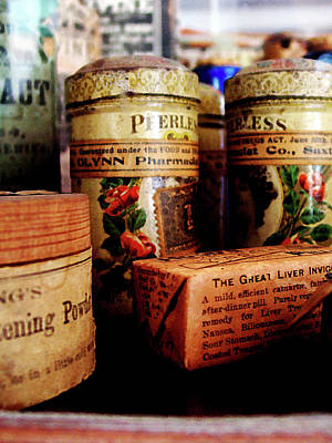 Photograph - Doctor - Liver Pills In General Store by Susan Savad