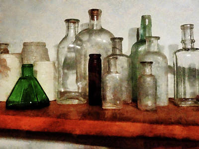 Photograph - Doctor - Medicine Bottles Tall And Short by Susan Savad
