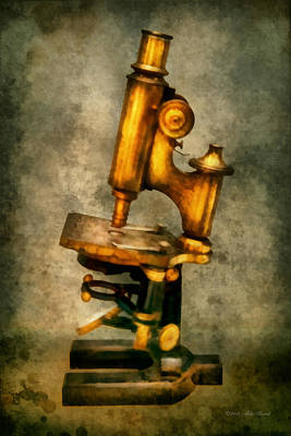Photograph - Doctor - Microscope - The Start Of Modern Science by Mike Savad