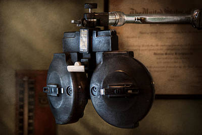 Gift For A Photograph - Doctor - Optometry - An Old Phoropter  by Mike Savad