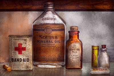 Medicine Bottle Photograph - Doctor - Pharmacueticals  by Mike Savad