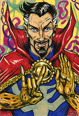 Drawing - Doctor Strange by John Ashton Golden