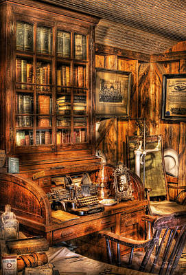 Photograph - Doctor - The Doctors Desk by Mike Savad