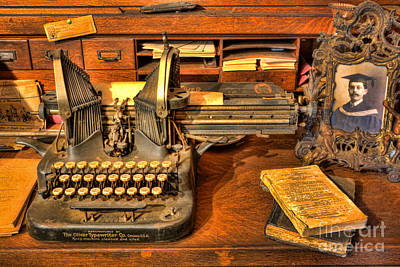 Photograph - Doctor - The Physician's Desk II by Lee Dos Santos