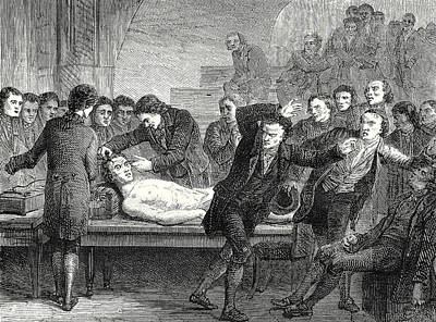 Doctor Ure Galvanizing The Body Of The Assassin Clysdale Art Print