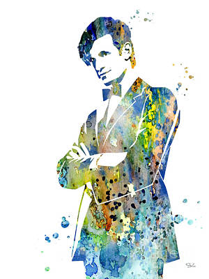 Doctor Who Painting - Doctor Who 2 by Watercolor Girl