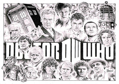 Doctor Who Print by David Horton