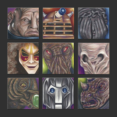 Weeping Drawing - Doctor Who - Losers by Connie Mobley Medina