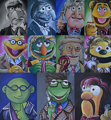 Patrick Painting - Doctor Who Muppet Mash-up by Lisa Leeman