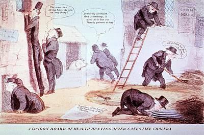 Doctors Investigating Cholera Art Print
