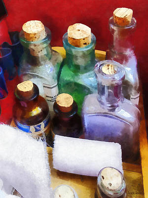 Photograph - Doctors - Medicine Bottles And Bandages by Susan Savad