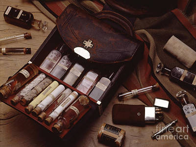Medicine Bags Photograph - Doctors Saddlebag by Brooks / Brown