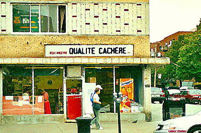 Montreal Chips Painting - Documenting Montreal Kosher Bakeries Boulangerie Qualite Cachere Van Horne Paintings Cspandau Art by Carole Spandau