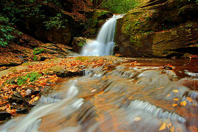 Photograph - Dodd Creek Falls In Autumn II by Daniel Woodrum