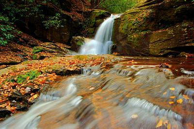 Photograph - Dodd Creek Falls In Autumn II by Daniel Woodrum