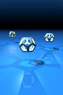 Dodecahedrons Art Print