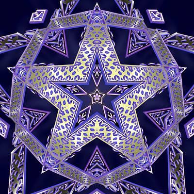 Digital Art - Dodecastar by Derek Gedney