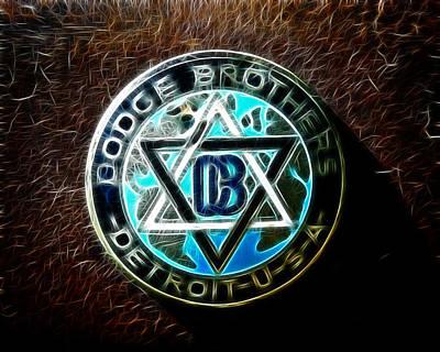 1928 Dodge Brothers Photograph - Dodge Brothers Emblem by Steve McKinzie