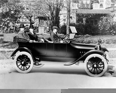 Dodge Brothers In Their First Car, 1914 Art Print