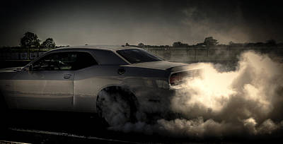 Photograph - Dodge Burnout by David Morefield