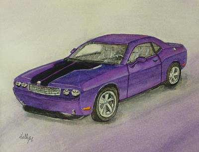 Painting - Dodge Challenger 2010 by Kelly Mills