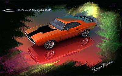 Challenger Digital Art - Dodge Challenger by Louis Ferreira
