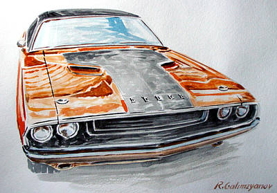 Dodge Challenger Print by Rimzil Galimzyanov