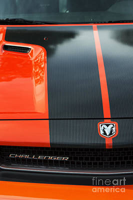 Car Badges Photograph - Dodge Challenger by Tim Gainey