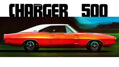 500 Photograph - Dodge Charger 500 by Mark Rogan
