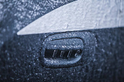 Photograph - Dodge Charger Frozen Car Handle by John McGraw