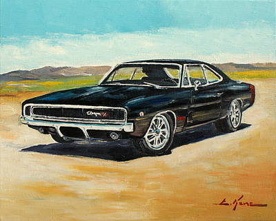 Painting - Dodge Charger Rt 1970 by Luke Karcz