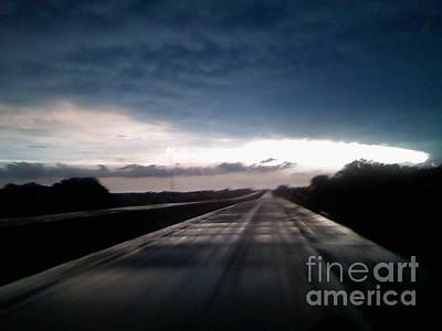 Photograph - Vanishing Point Highway by Edward Fuller