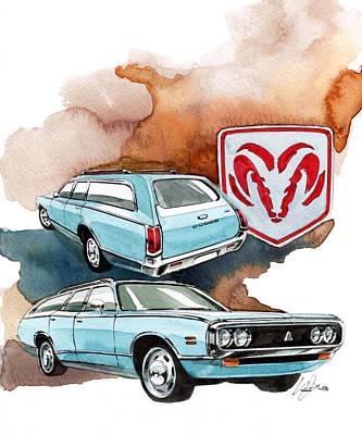 Coronet Painting - Dodge Coronet by Yoshiharu Miyakawa