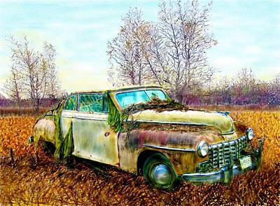 Dodge Coupe Convertible Art Print by Ric Darrell