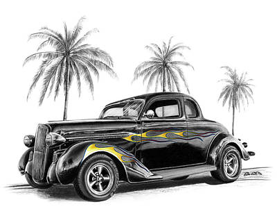 Automotive Drawing - Dodge Coupe by Peter Piatt