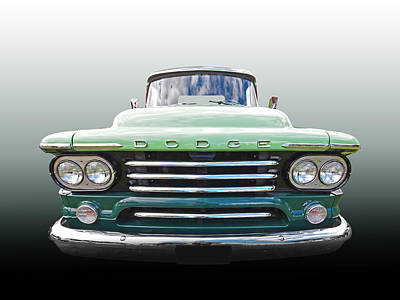 Photograph - Dodge D100 Sweptside 1958 by Gill Billington